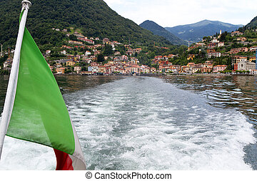 Menaggio village on the shore of lake Como, Italy