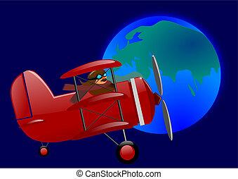 Red triplane