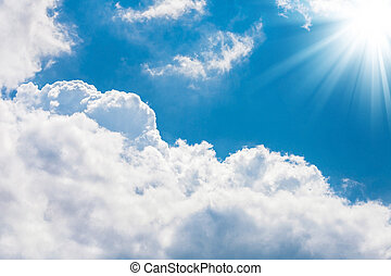 The sky - Photo of the beautiful blue sky with white clouds