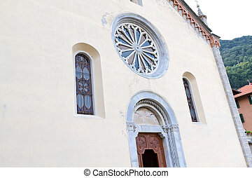 "Historic Church ""Santa Tecla"" in the village of Torno, lake..."