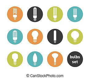 bulbs icon set