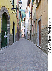 Alley in the italian village of Torno
