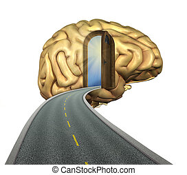 Thinking is the Best Way to Travel - Destination mind: road...