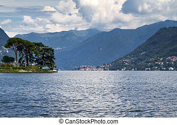 Lake Como near the village of Cernobbio, Italy