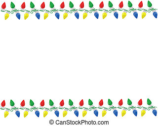 Christmas lights background - Background with string of...