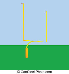 Football goal post - Illustration of a goal post used in...