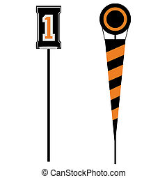 Football markers - A couple of sideline markers used in...