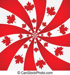 Canada spiral background