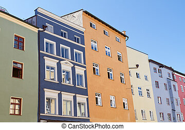 Historic houses in the town of Wasserburg, Bavaria
