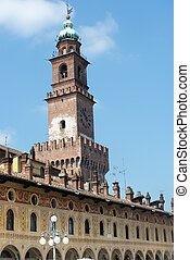 Vigevano: Piazza Ducale - Vigevano (Pavia, Lombardy, Italy):...