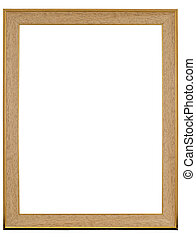 Picture frame - Classic picture frame isolated on white with...