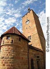 The White Tower in Nuremberg - The white tower in Nuremberg,...