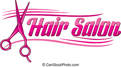 Hair Salon design haircut or hair salon symbol