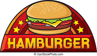 hamburger (hamburger sign, label, design)