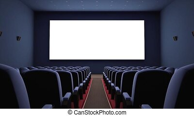 Cinema Screen - Inside of the cinema Your text or picture on...