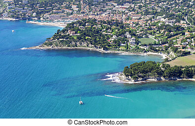 Cassis - overview of the harbor of Cassis