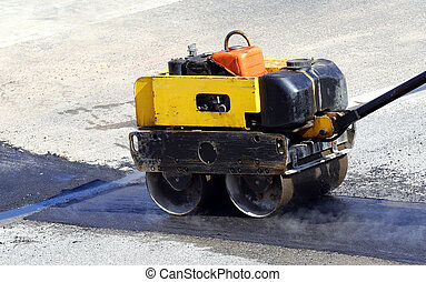 steamroller - steam roller at work