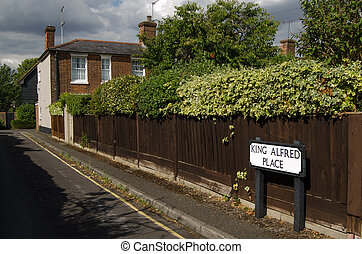 King Alfred remembered, Winchester - One of the roads named...
