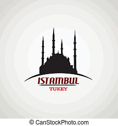 Istambul poster - Istambul in vitage style poster, vector...