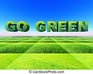 go green - illustration of ecology