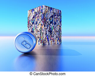 Recycling - tin can recycling