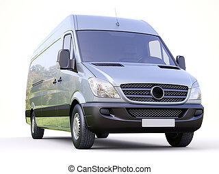 Commercial van - Modern commercial van on a light background