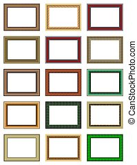 frames - Patterned hollow frames