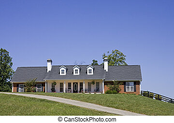 Nice Ranch House on Hill - A nice brick ranch house on a...