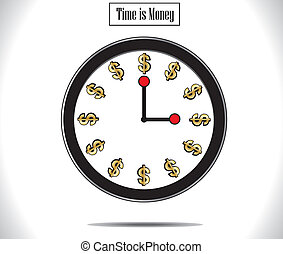 Time is Money Watch Clock Concept