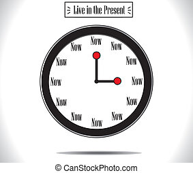 Present Moment concept Watch Clock - Present Moment concept...
