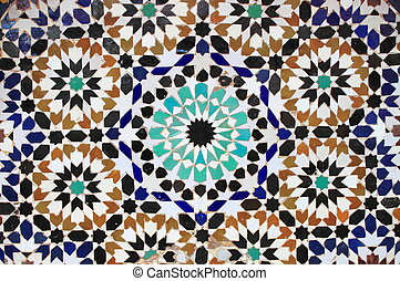 Moroccan mosaic - Typical mosaic pattern of a moroccan...