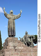 Statue of Saint Francis in Rome - Statue of Saint Francis in...