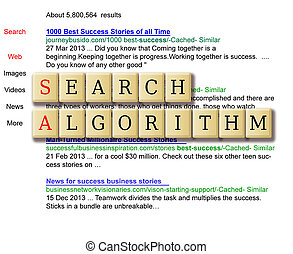 search algorithms formed in a crossword puzzle with search...