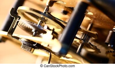 Clock mechanism Close-up