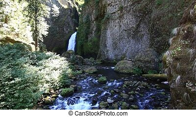 Wahclella Falls located in the Columbia River Gorge near...