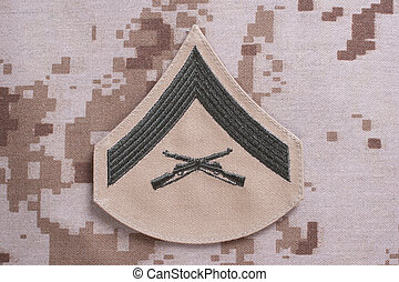 us marines rank patch isolated