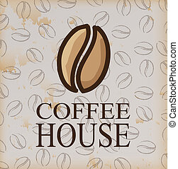 coffee house over vintage background vector illustration