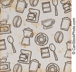 cooking icons over vintage background vector illustration