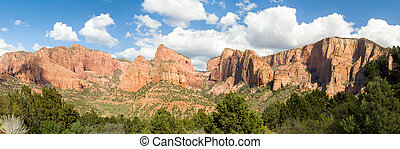 Kolob Panorama - Panoramic view in the Kolob Canyons...