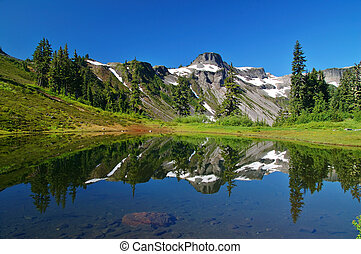 Peak Refelections - Mountain peak reflected in a lake