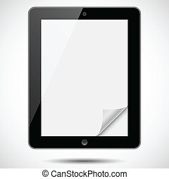 Tablet with Paper Corner