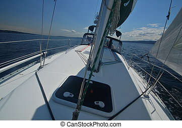 sailing away - sailing in the Puget Sound of Washington...