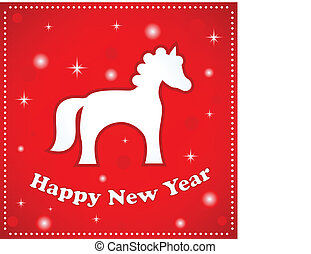 Happy New Year - vector card Happy New Year
