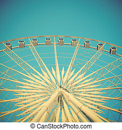 Ferris wheel with retro filter effect
