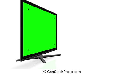 Flat TV Screen - Green screen   Track marks   Alpha channel