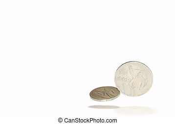 Coins w - Pair of the Soviet collection coins of the middle...
