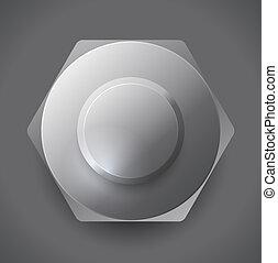 Metal screw nut vector illustration - Metal screw nut vector...