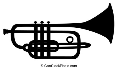 Silhouette of trumpet - The silhouette of the trumpet