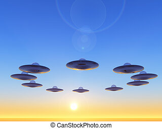 ufo - science fiction illustration