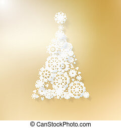 Abstract golden christmas tree.